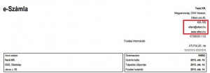 Billzone - Eltérő telephely adatok a számlán
