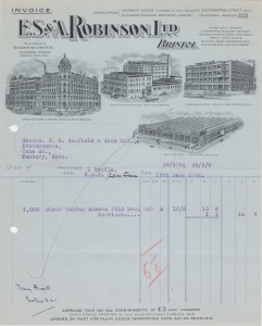 1925_ES&ARobinson_Invoice_with_illustrations